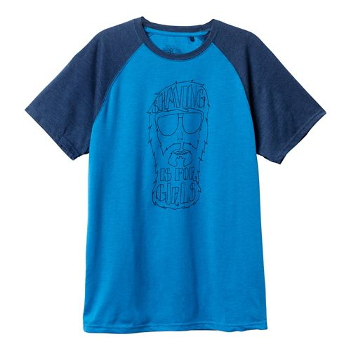 Mens Prana Beard Short Sleeve Non-Technical Tops - Danube Blue XL