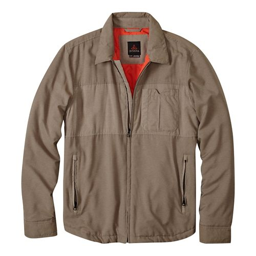 Mens Prana Hardwin Shirt Lightweight Jackets - Earth Grey M