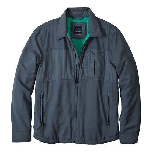 Mens Prana Hardwin Shirt Lightweight Jackets - Blue Jean M