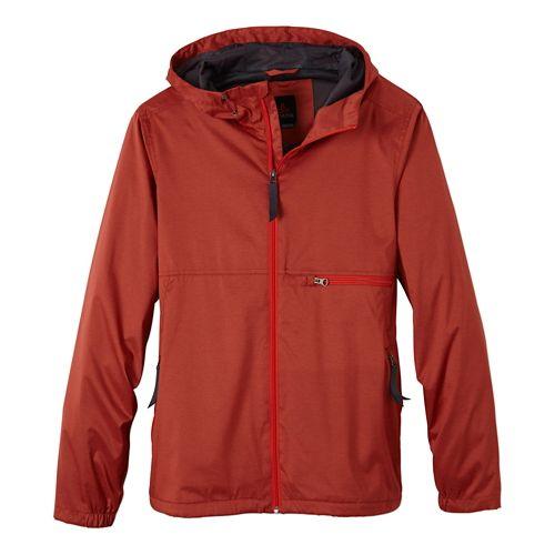 Mens Prana Grayson Warm Up Hooded Jackets - Fireball L