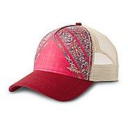 Womens Prana La Viva Trucker Headwear - Carmine Pink