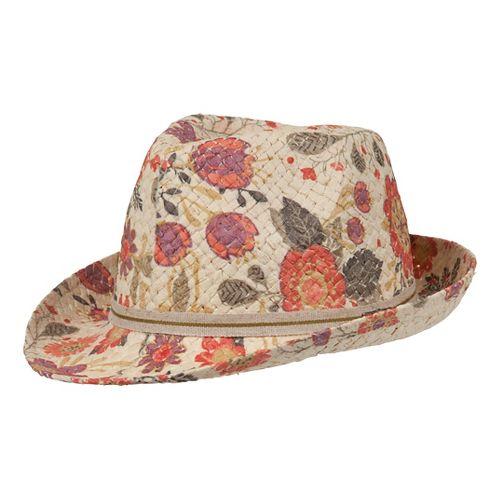 Womens Prana Hazel Straw Fedora Headwear - Electric Orange Gard