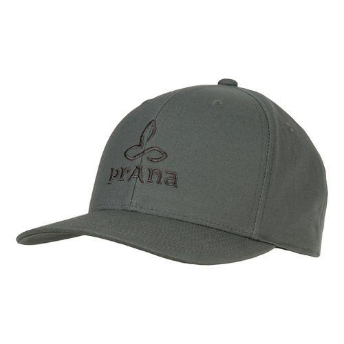 Mens Prana Logo Ball Cap Headwear - Pewter