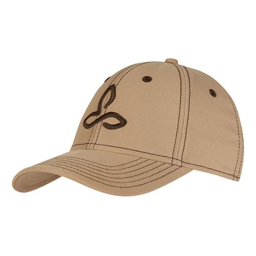 Mens Prana Zion Ball Cap Headwear - Dark Khaki