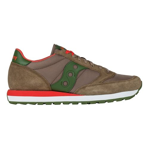 Mens Saucony Jazz Original Casual Shoe - Brown/Green 11