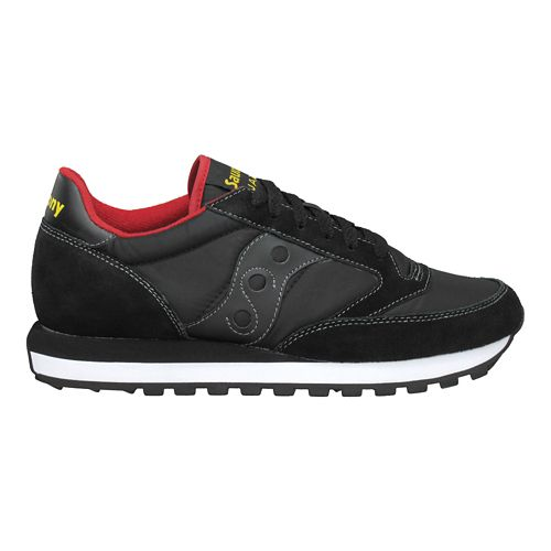 Mens Saucony Jazz Original Casual Shoe - Black/Red 8.5