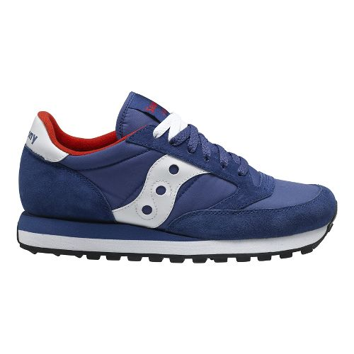 Mens Saucony Jazz Original Casual Shoe - Navy/White 11