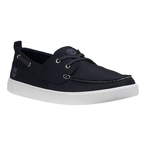 Mens Timberland Groveton Boat Oxford Casual Shoe - Navy Canvas 14