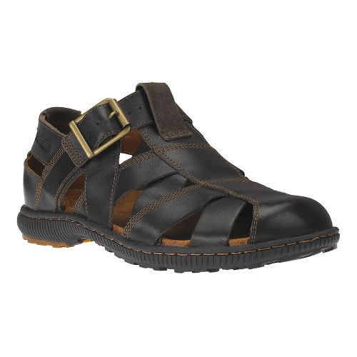 Mens Timberland EK Hollbrook Fisherman Sandals Shoe - Dark Brown 8