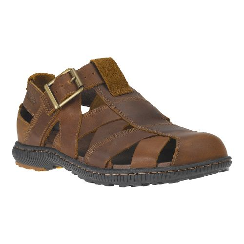 Mens Timberland EK Hollbrook Fisherman Sandals Shoe - Dark Brown 12