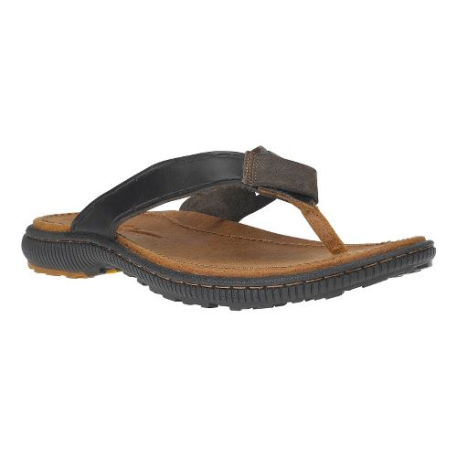 Mens Timberland EK Hollbrook Flip Sandals Shoe - Dark Brown 9
