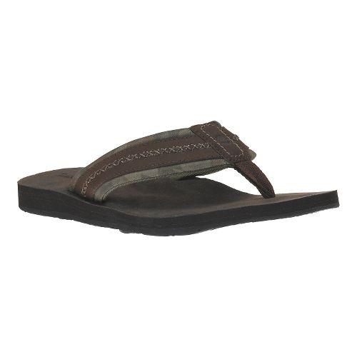 Mens Timberland EK Flip Flop Sandals Shoe - Dark Brown 8