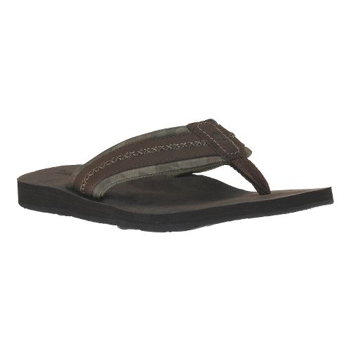 Mens Timberland EK Flip Flop Sandals Shoe - Dark Brown 9