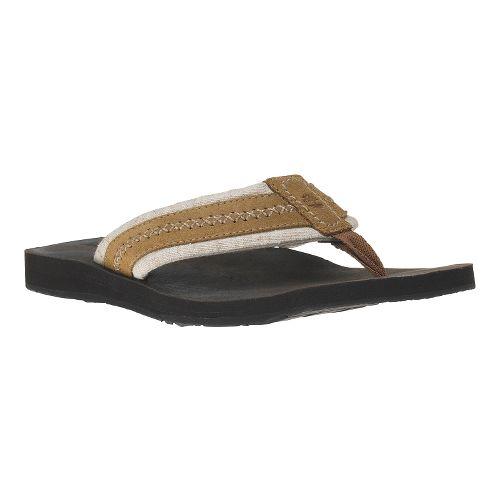 Mens Timberland EK Flip Flop Sandals Shoe - Light Brown 7