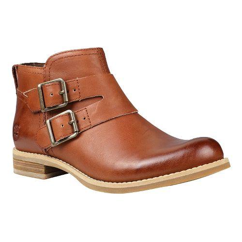 Womens Timberland EK Savin Hill Double Buckle Boot Casual Shoe - Light Brown 7.5