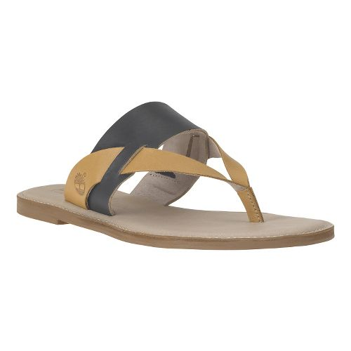 Womens Timberland EK Sheafe Thong Sandals Shoe - Black Dry Gulch 8