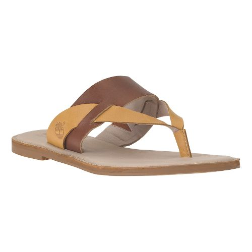 Womens Timberland EK Sheafe Thong Sandals Shoe - Light Brown 5.5