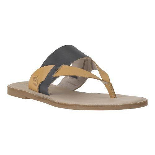 Womens Timberland EK Sheafe Thong Sandals Shoe - Black Dry Gulch 7.5
