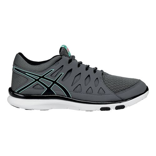 Womens ASICS GEL-Fit Tempo 2 Cross Training Shoe - Black/Mint 5