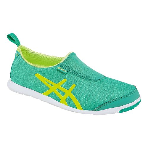 Womens ASICS Metrolyte 2 Slip On Walking Shoe - Ice Green/Yellow 8.5