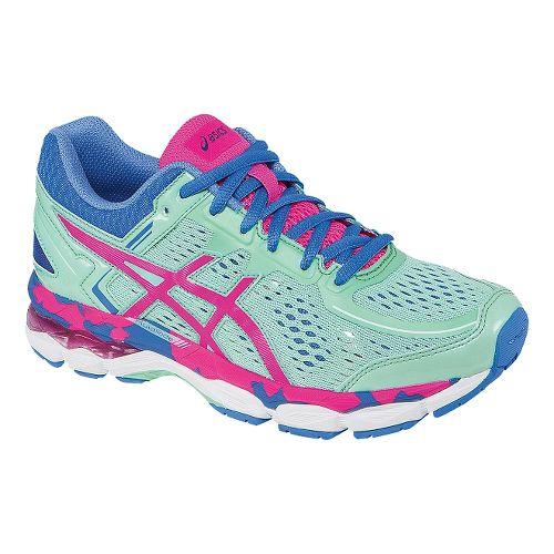 Kids ASICS GEL-Kayano 22 GS Running Shoe - Ice Blue/Pink Glow 2.5Y