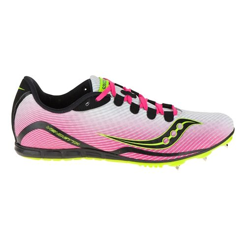 Womens Saucony Vendetta Track and Field Shoe - White/Pink 12