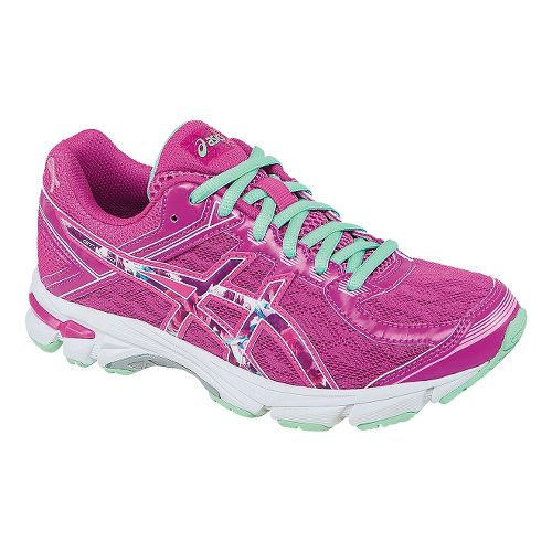 Kids ASICS GT-1000 4 GS PR Running Shoe - Pink Glow/Hot Pink 7