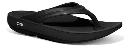 Womens OOFOS OOlala Sandals Shoe - Black 6
