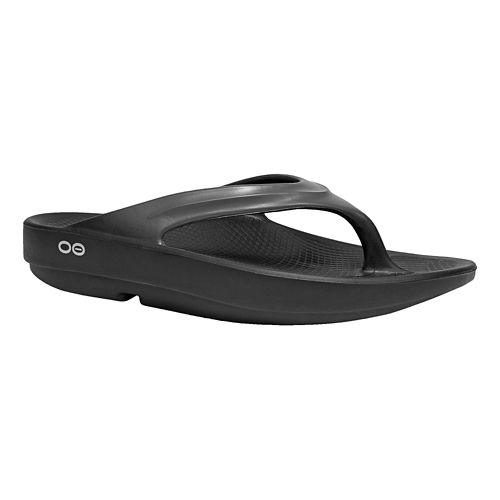 Womens OOFOS OOlala Sandals Shoe - Black/Graphite 6