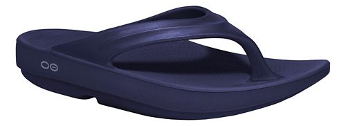 Womens OOFOS OOlala Sandals Shoe - Navy 9