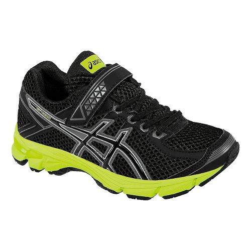 Kids ASICS GT-1000 4 PS Running Shoe - Black/Flash Yellow 3Y