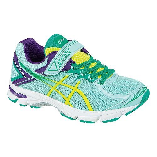Kids ASICS GT-1000 4 PS Running Shoe - Ice Blue/Yellow 11