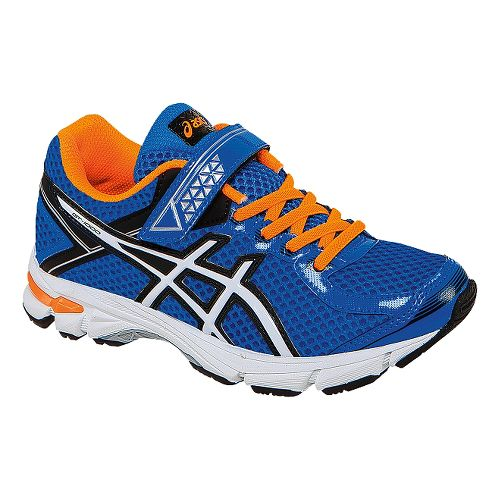 Kids ASICS GT-1000 4 PS Running Shoe - Electric Blue/Orange 1