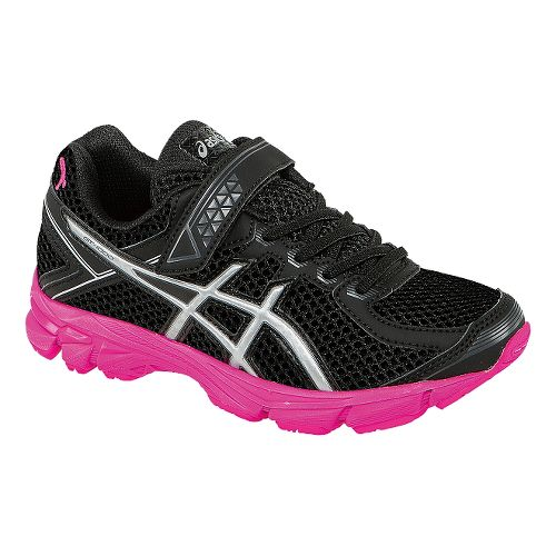 Kids ASICS GT-1000 4 PS PR Running Shoe - Black/Pink Ribbon 11