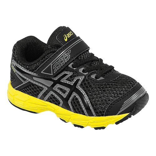 Kids ASICS GT-1000 4 TS Running Shoe - Black/Flash Yellow 7C