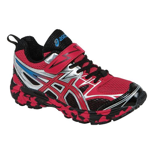 Kids ASICS PRE Turbo PS Boys Running Shoe - Fiery Red/Black 3