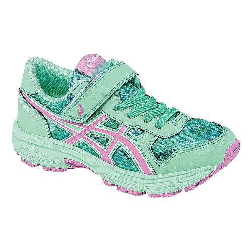 Kids ASICS PRE Bounder PS Running Shoe - Beach Glass/Pink 3