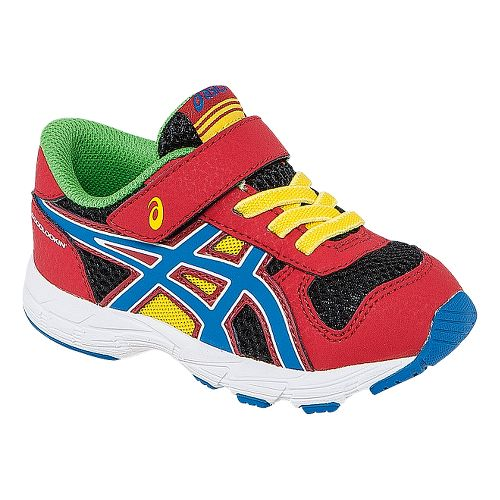 Kids ASICS Bounder TS Running Shoe - Fiery Red/Blue 9