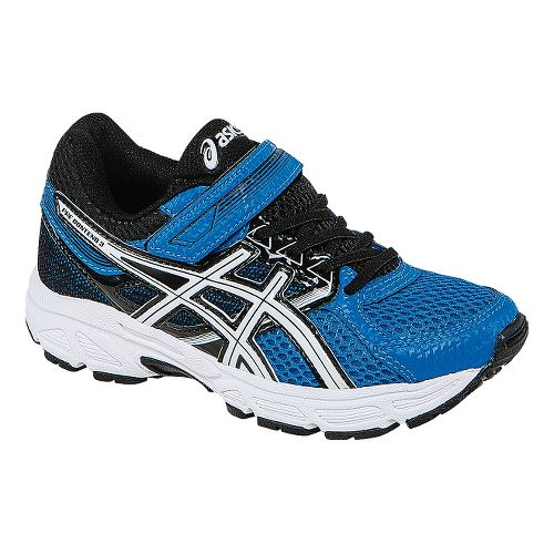 Kids ASICS PRE-Contend 3 PS Running Shoe - Electric Blue/White 11