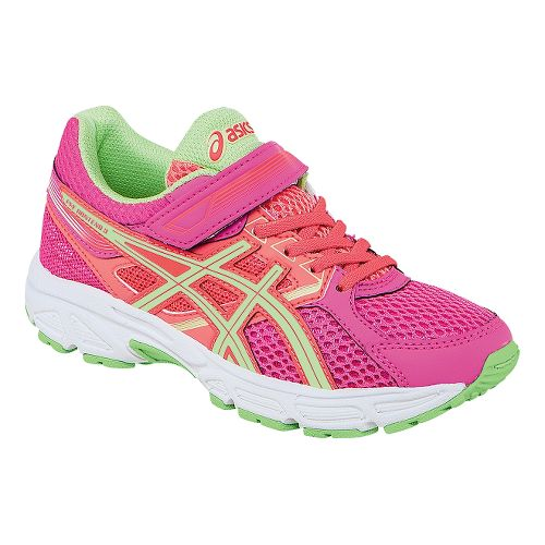 Kids ASICS PRE-Contend 3 PS Running Shoe - Hot Pink/Pistachio 10