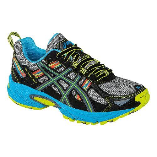 Kids ASICS GEL-Venture 5 GS Running Shoe - Silver Grey/Lime 1.5Y
