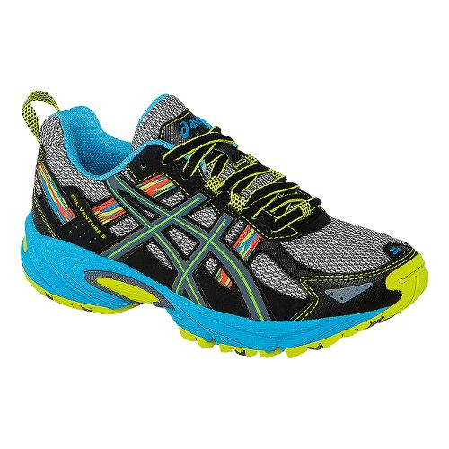 Kids ASICS GEL-Venture 5 GS Running Shoe - Silver Grey/Lime 3.5