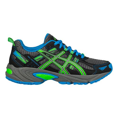 ASICS Kids GEL-Venture 5 Running Shoe - Grey/Green/Blue 2.5