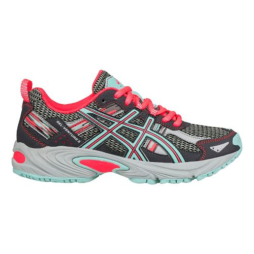 ASICS Kids GEL-Venture 5 Running Shoe - Carbon/Aqua/Pink 3.5