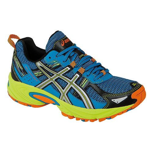 Kids ASICS GEL-Venture 5 GS Running Shoe - Turquoise/Lime 7Y