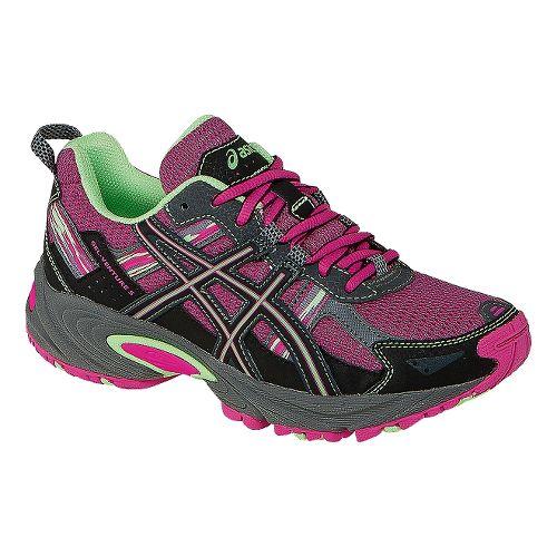Kids ASICS GEL-Venture 5 GS Running Shoe - Pink Glow/Pistachio 1.5Y