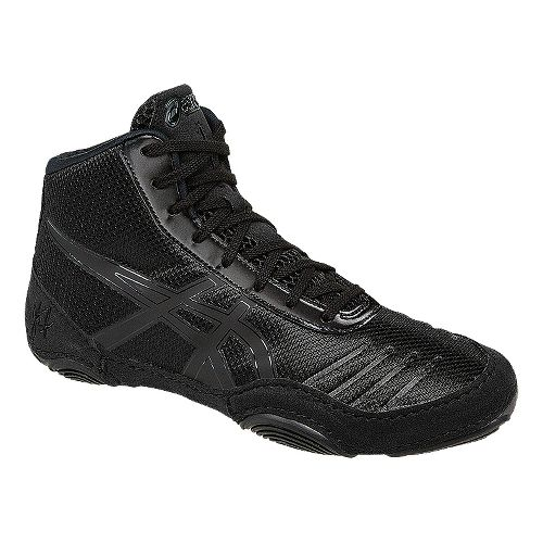 Kids ASICS JB Elite V2.0 Pre School Wrestling Shoe - Black/Onyx 3.5Y