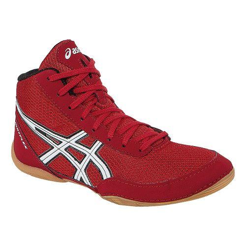 Kids ASICS Matflex 5 GS Wrestling Shoe - Fiery Red/White 5