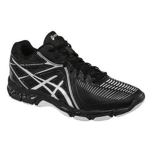 Mens ASICS GEL-Netburner Ballistic MT Court Shoe - Black/Silver 7.5