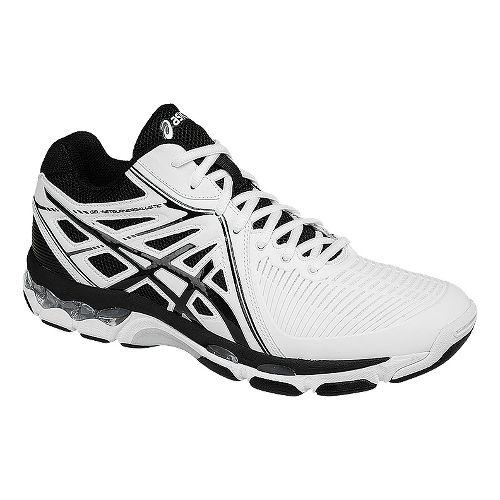 Mens ASICS GEL-Netburner Ballistic MT Court Shoe - White/Black 15